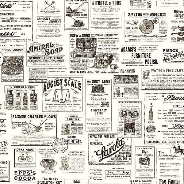 Picture of Adamstown Black Newspaper Wallpaper