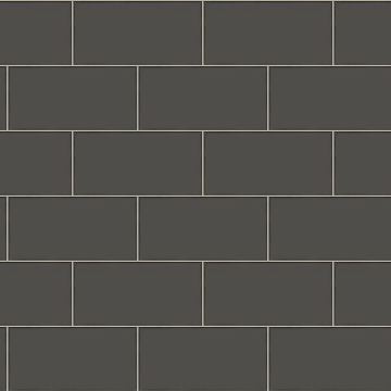 Picture of Freedom Black Subway Tile Wallpaper