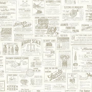 Picture of Adamstown Cream Newspaper Wallpaper