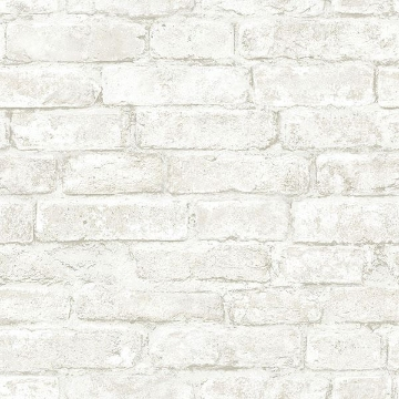 Picture of Arlington Off-White Brick Wallpaper