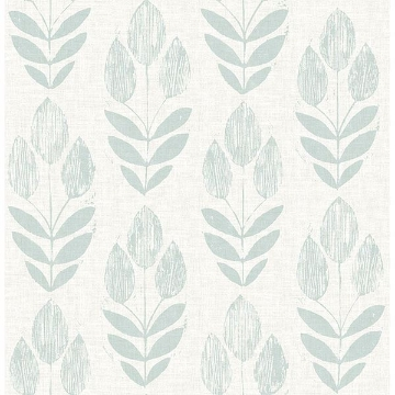 Picture of Garland Teal Block Tulip Wallpaper