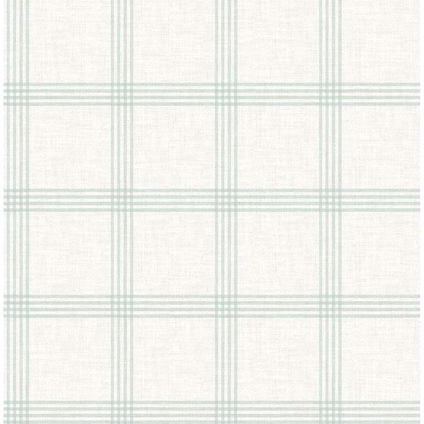 Picture of Twain Teal Plaid Wallpaper