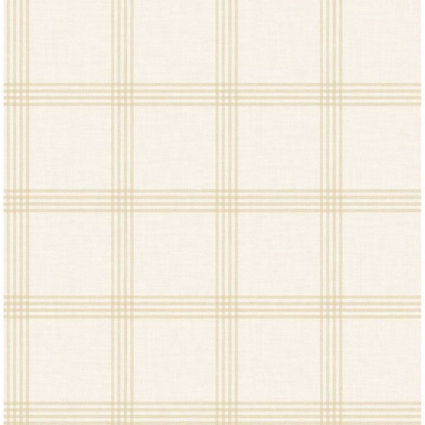 Picture of Twain Wheat Plaid Wallpaper