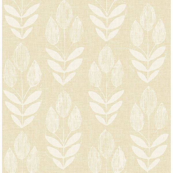 Picture of Garland Wheat Block Tulip Wallpaper