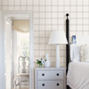 Ester Dove Plaid Wallpaper