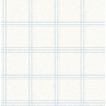 Picture of Twain Light Blue Plaid Wallpaper