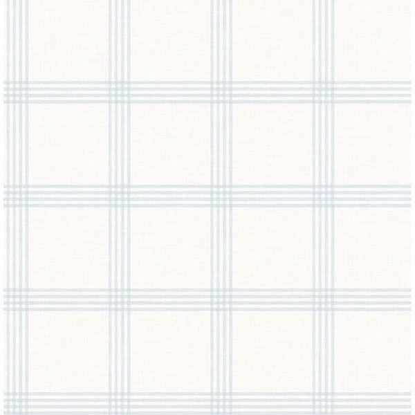 Picture of Twain Light Blue Plaid Wallpaper