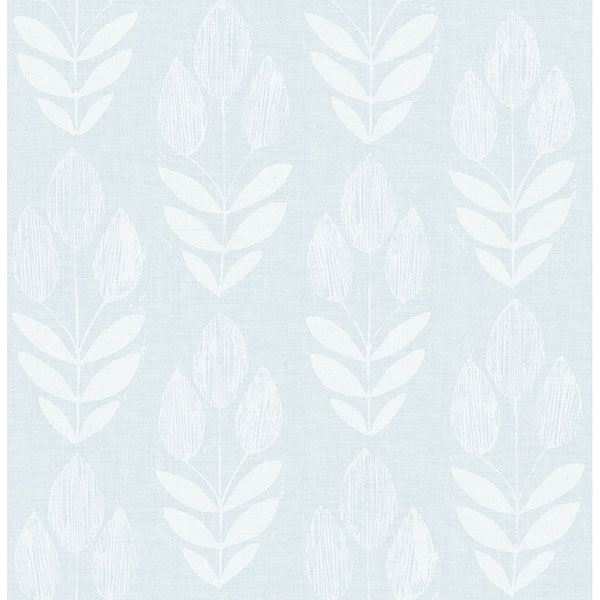 Picture of Garland Light Blue Block Tulip Wallpaper