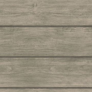 Picture of Cassidy Grey Wood Planks Wallpaper