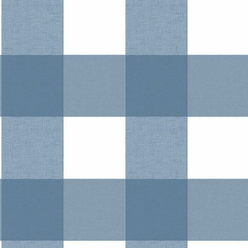Picture of Amos Blue Gingham Wallpaper