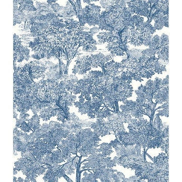 Picture of Spinney Blue Toile Wallpaper