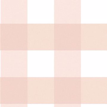 Picture of Amos Light Pink Gingham Wallpaper