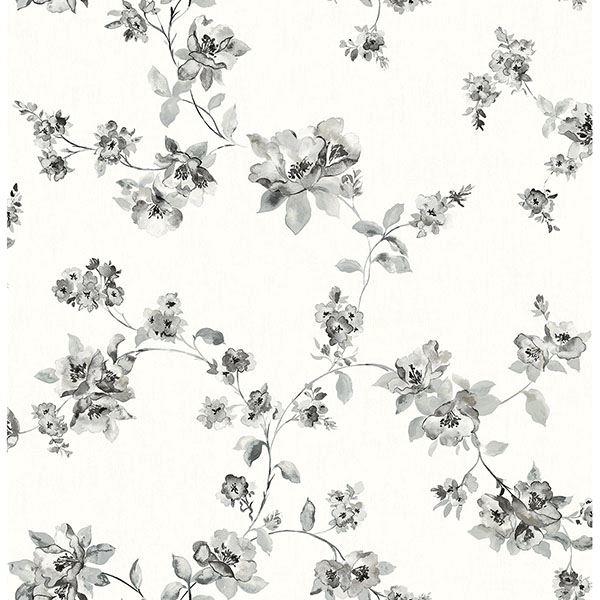 Picture of Cyrus Black Festive Floral Wallpaper