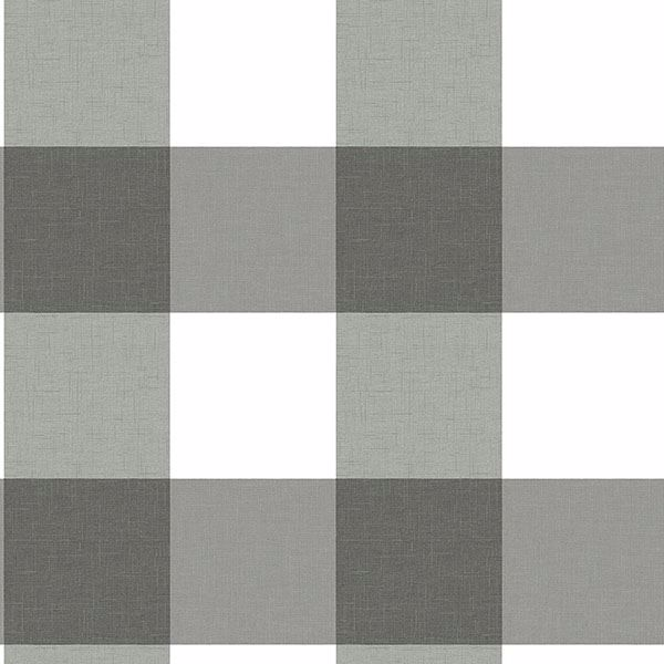 Picture of Amos Black Gingham Wallpaper