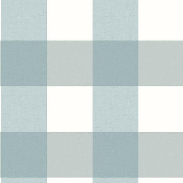 Picture of Amos Teal Gingham Wallpaper