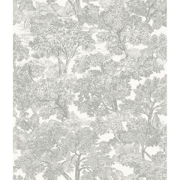 Picture of Spinney Grey Toile Wallpaper
