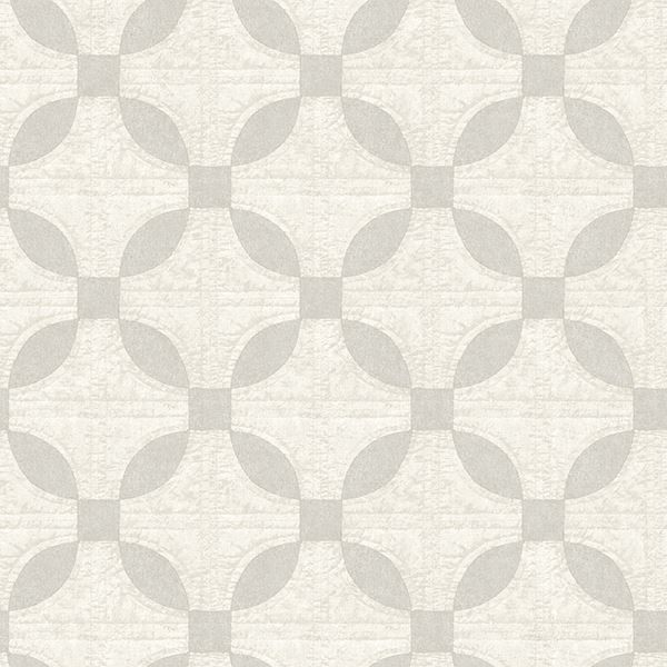 Picture of Justice Light Grey Quilt Wallpaper