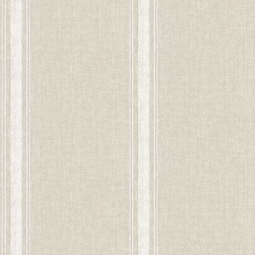 Picture of Linette Light Grey Fabric Stripe Wallpaper