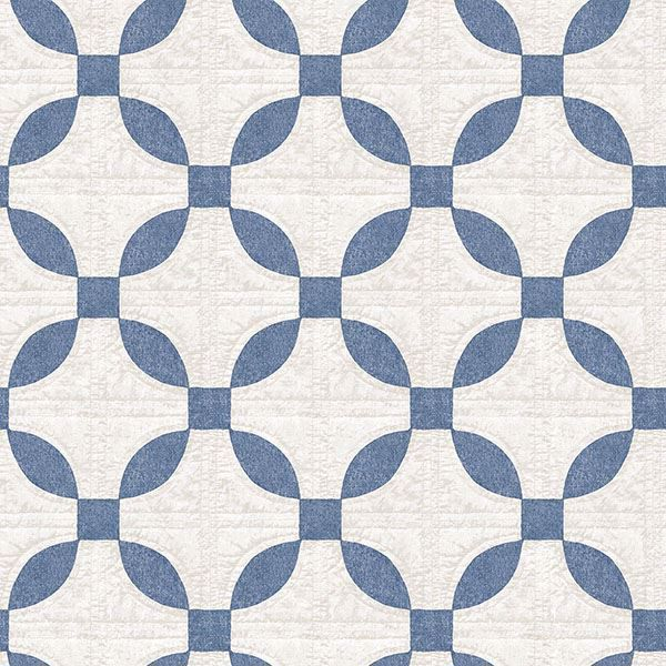 Picture of Justice Blue Quilt Wallpaper