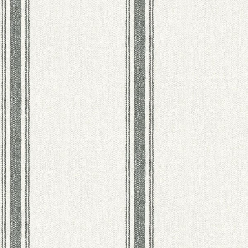 Picture of Linette Black Fabric Stripe Wallpaper