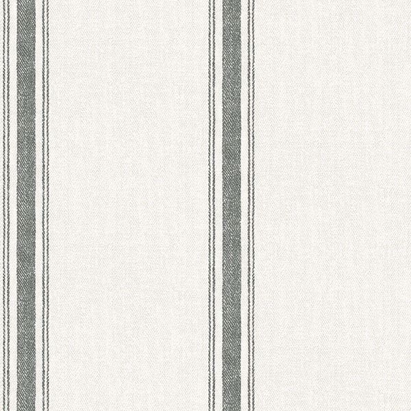 Picture of Linette Black Fabric Stripe Wallpaper