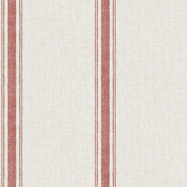 Picture of Linette Burnt Sienna Fabric Stripe Wallpaper