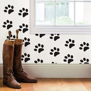 Picture of Paw Prints Wall Quote Decals