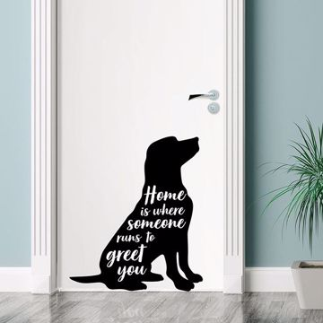 Picture of Home is Where Someone Wall Quote Decals