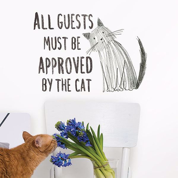 Picture of Cat Approved Wall Quote Decals