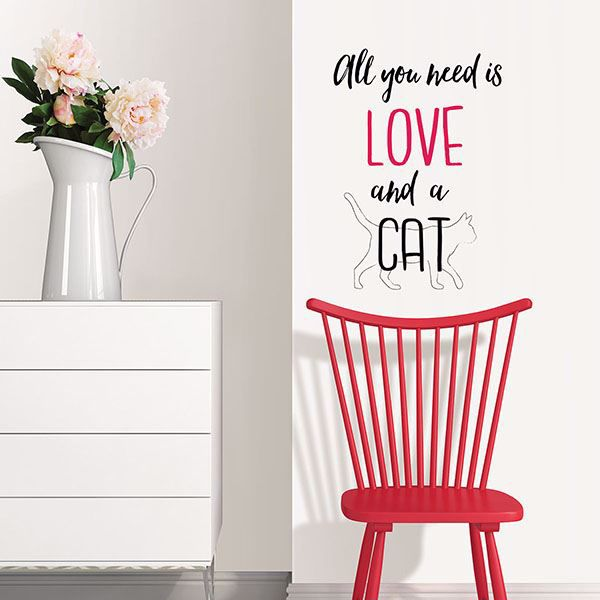 Picture of Love and a Pet Wall Quote Decals