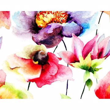 Picture of Watercolour Flora Wall Mural