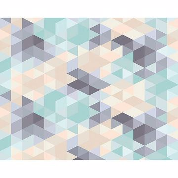 Picture of Pastel Triangles Wall Mural