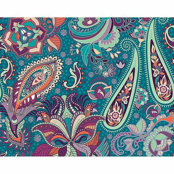 Picture of Paisley Garden Wall Mural