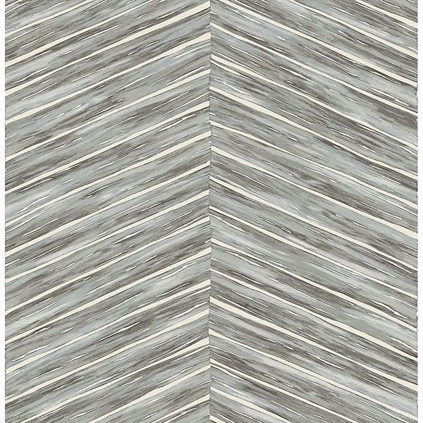Picture of Aldie Light Blue Chevron Weave Wallpaper