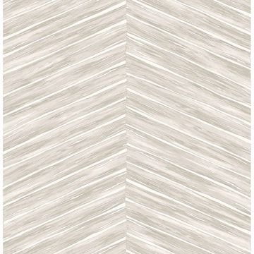 Picture of Aldie Off-White Chevron Weave Wallpaper