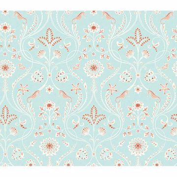 Picture of Anacapa Turquoise Damask Wallpaper