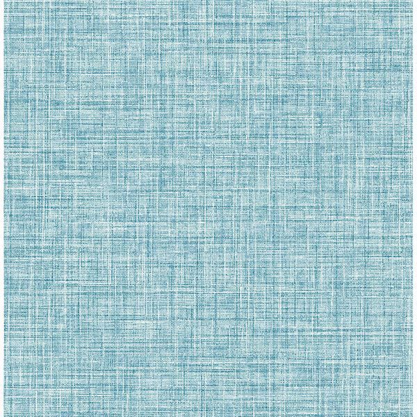 Picture of Barbary Blue Crosshatch Texture Wallpaper