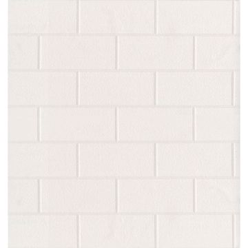 Picture of Barclays Paintable Paintable White Tile Wallpaper
