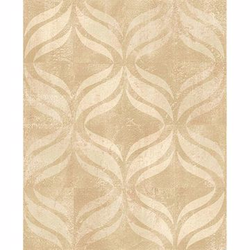 Picture of Beallara Beige Ogee Wallpaper