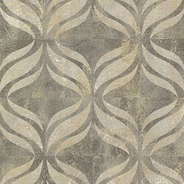 Picture of Beallara Taupe Ogee Wallpaper