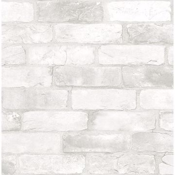 Picture of Bushwick Off-White Reclaimed Bricks Wallpaper
