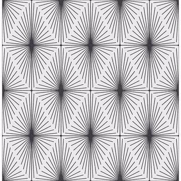 Picture of Draper Black Geometric Wallpaper
