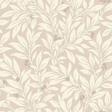 Picture of Fasciata Beige Mulberry Leaf Wallpaper