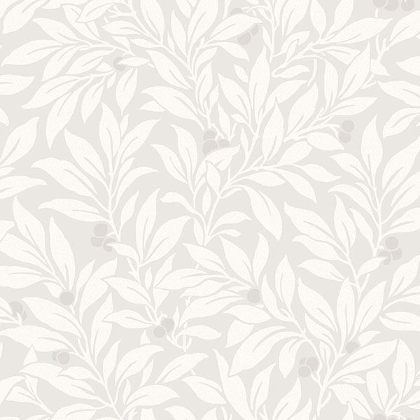 Picture of Fasciata Silver Mulberry Leaf Wallpaper