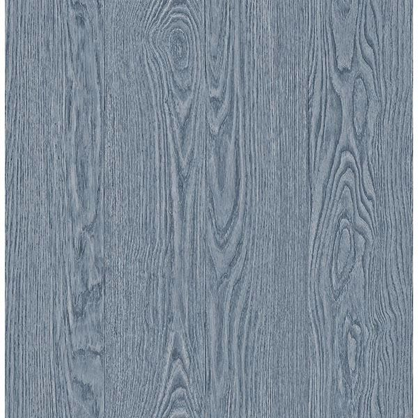 Picture of Groton Blue Wood Plank Wallpaper
