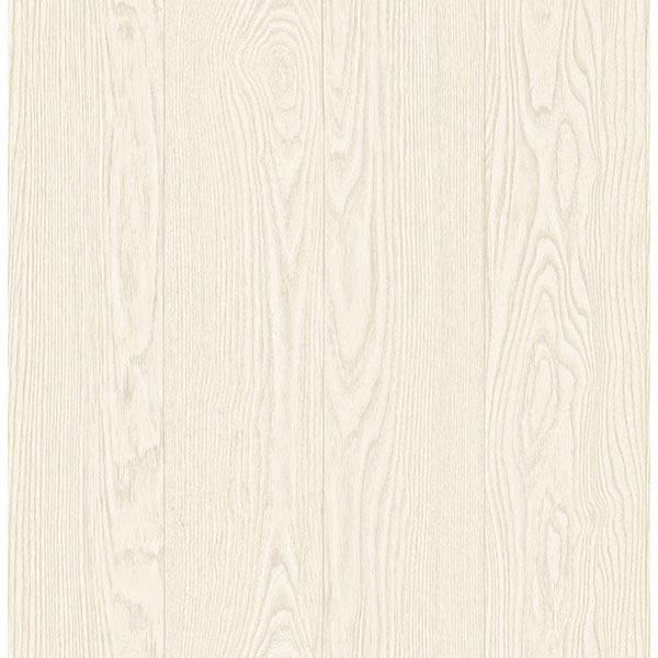 Picture of Groton Cream Wood Plank Wallpaper