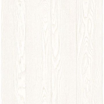 Picture of Groton Off-White Wood Plank Wallpaper