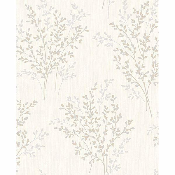 Picture of Haworthia Neutral Glitter Leaf Wallpaper