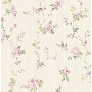 Picture of Jacqueline Multicolor Floral Scroll Wallpaper
