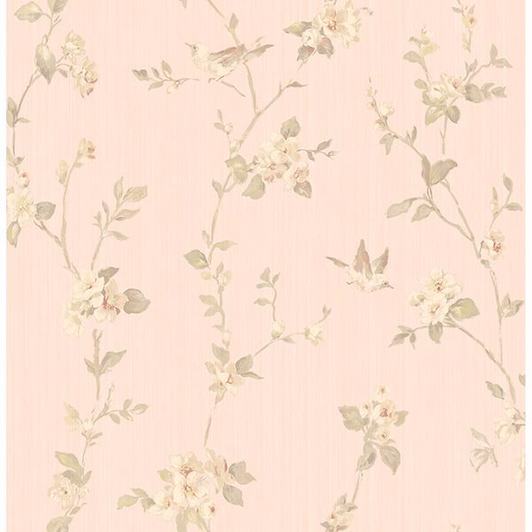 Picture of Jacqueline Rose Floral Scroll Wallpaper